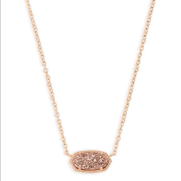 2c9eb52f3104 Kendra Scott Jewelry - Kendra Scott Elisa rose gold necklace